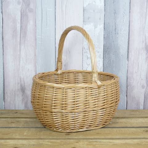 The Satchville Gift Company Steamed Willow Shopping Basket