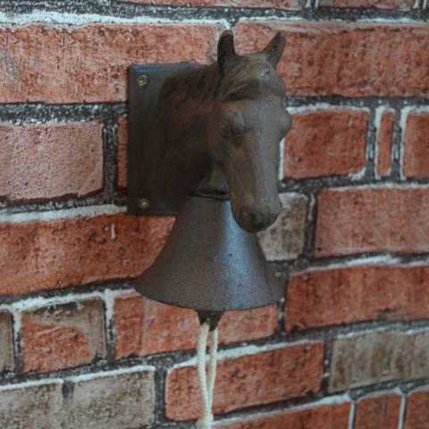 The Satchville Gift Company Cast iron horse head door bell
