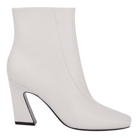 Sigerson Morrison White Wind Chime Leather Ervin Ankle Boots