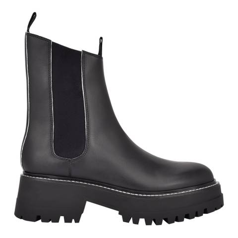 Sigerson Morrison Black Kemp Chunky Ankle Boots
