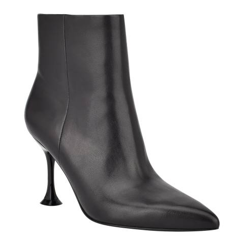 Sigerson Morrison Black Leather Norman Heeled Booties
