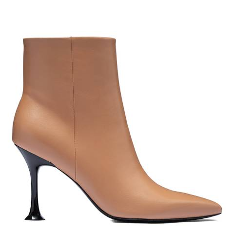 Sigerson Morrison Tan Nappa Leather Norman Heeled Bootie