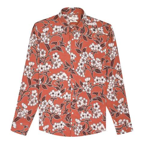 Reiss Orange Freddie Floral Slim Shirt