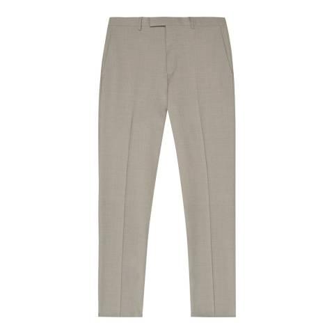 Reiss Beige Wander Suit Trousers