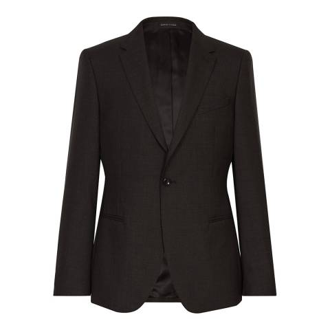 Reiss Brown Caruso Slim Suit Jacket