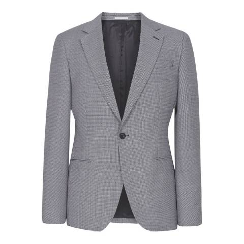 Reiss Grey Wangle Check Suit Jacket