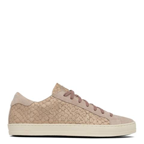 P448 Pink Leather John Python Trainers
