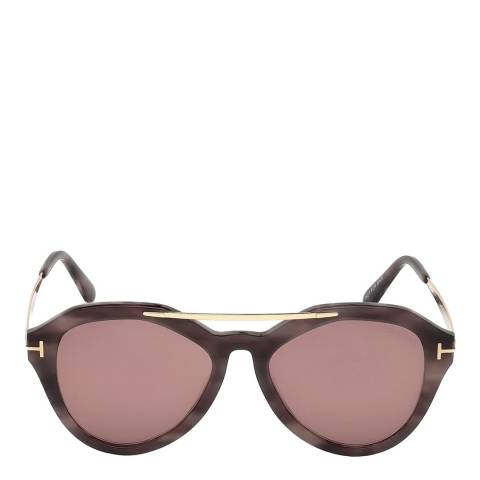 Tom Ford Women's Pink Havana Tom Ford Sunglasses 54mm