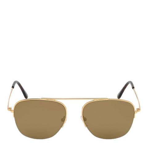 Tom Ford Men's Gold Tom Ford Sunglasses 56mm