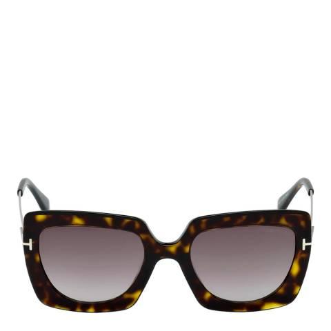 Tom Ford Women's Dark Havana/Purple Tom Ford Sunglasses 53mm
