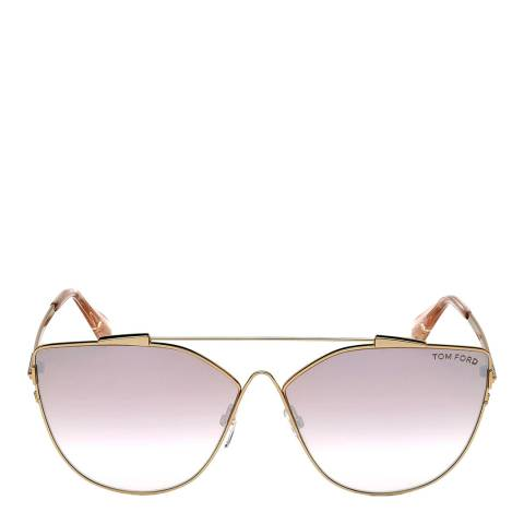 Tom Ford Women's Gold Tom Ford Sunglasses 64mm