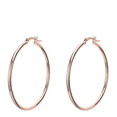 Chloe Collection by Liv Oliver 18K Rose Gold Plated Large Hoop Earrings