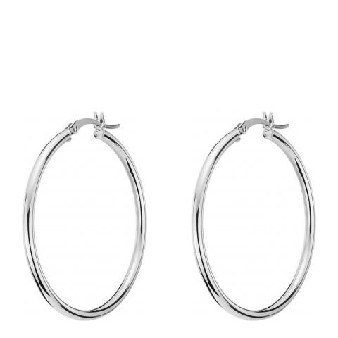 Chloe Collection by Liv Oliver Silver Plated Hoop Earrings