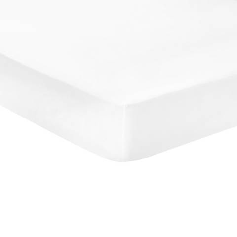 N°· Eleven Deep Single Fitted Sheet, White