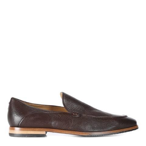 Oliver Sweeney Brown Deer Leather Menegoli Loafer