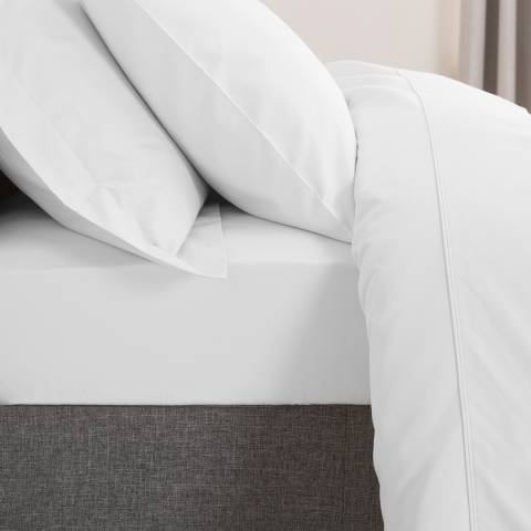 The Lyndon Company 500TC Double Deep Fitted Sheet, White