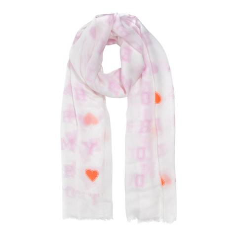 Tommy Hilfiger Bright White Mix Love Tommy Scarf