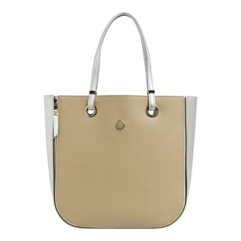 Tommy Hilfiger Silver Metallic & Warm Sand MY TOMMY TOTE