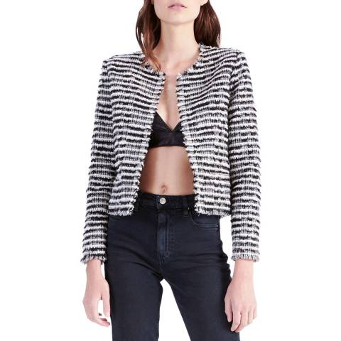 IRO Black/White Emotion Wool Blend Jacket