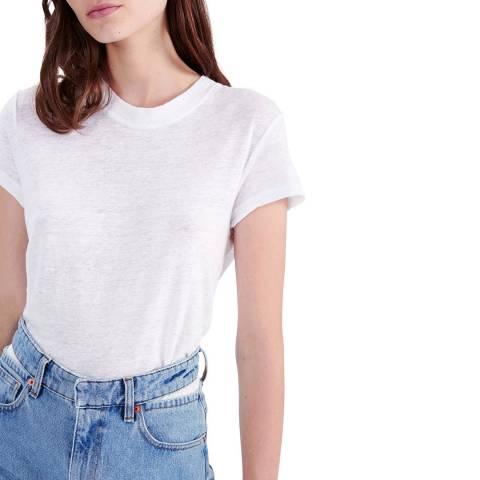 IRO White Third Linen T-Shirt