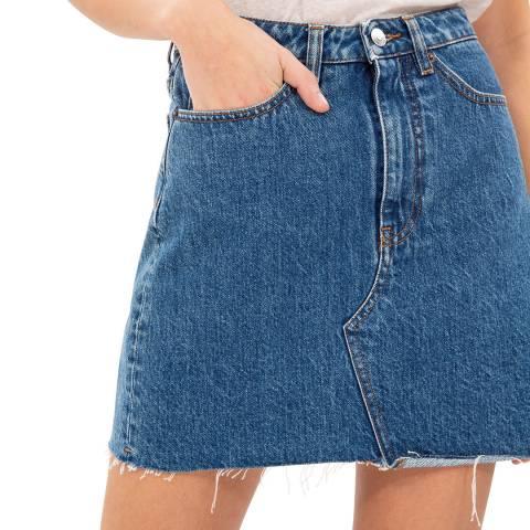 IRO Blue Amatory Cotton Skirt