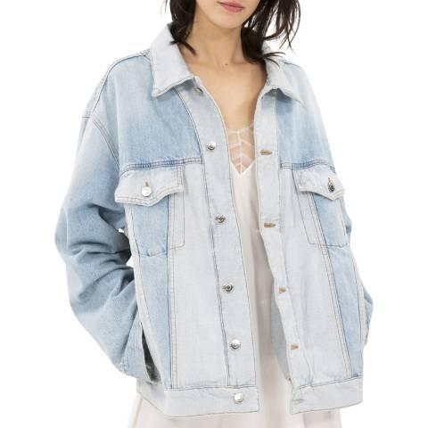 IRO Blue Gilda Cotton Denim Jacket