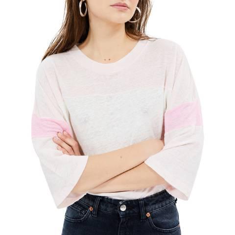 IRO Neutral/Pink Discreet Linen Top