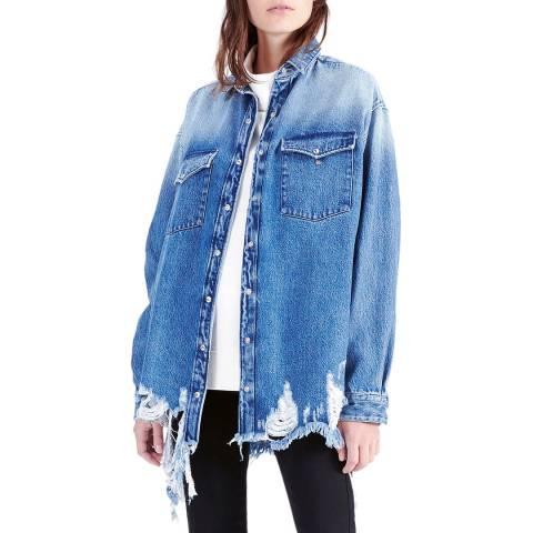 IRO Blue American Denim Cotton Shirt