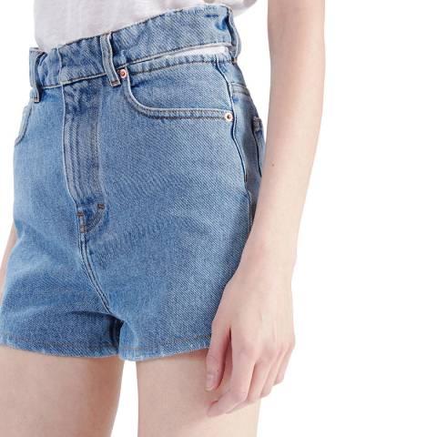 IRO Blue Comeo Cotton Shorts