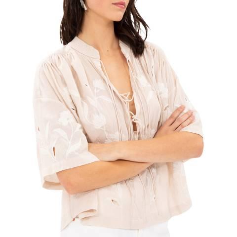 IRO Nude Hiba Cotton Top