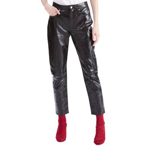 IRO Black Laker Leather Trousers