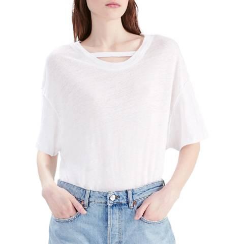 IRO Off White Master Linen T-Shirt