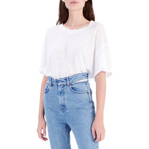 IRO Off White Motion Linen T-Shirt