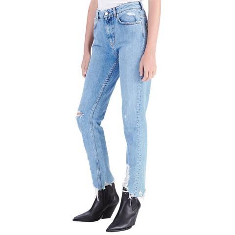 IRO Light Blue Official Slim Cotton Jeans