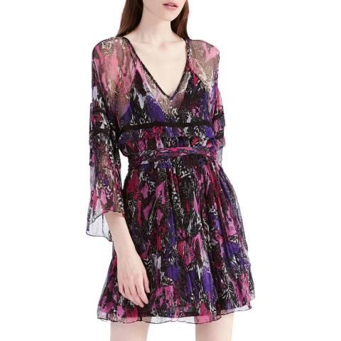 IRO Purple/Multi Clash Dress