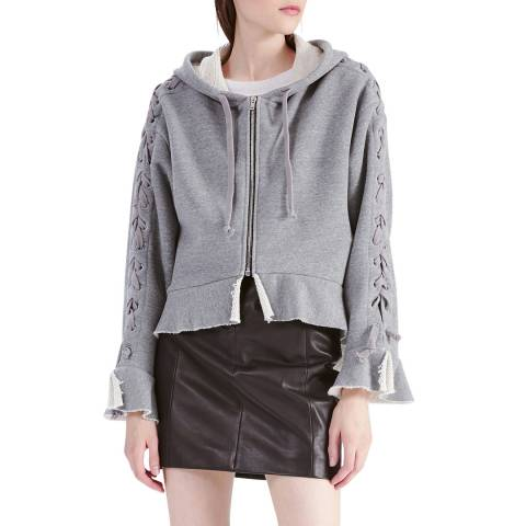 IRO Grey Perfect Cotton Blend Sweatshirt