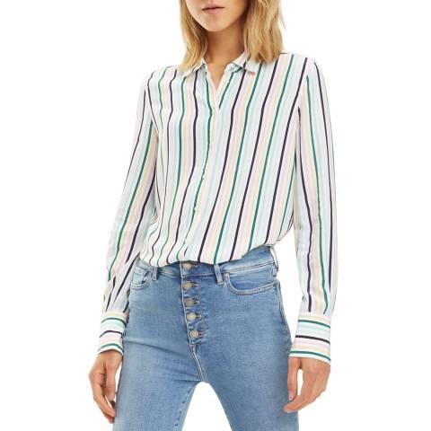 Tommy Hilfiger White Fleur Stripe Shirt