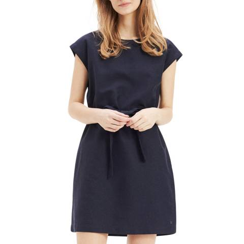 Tommy Hilfiger Navy Carolina Linen Blend Dress