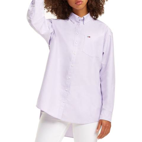 Tommy Hilfiger Lilac Classic Cotton Shirt
