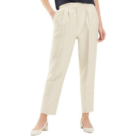Tommy Hilfiger Beige Carolina Cotton Blend Trousers
