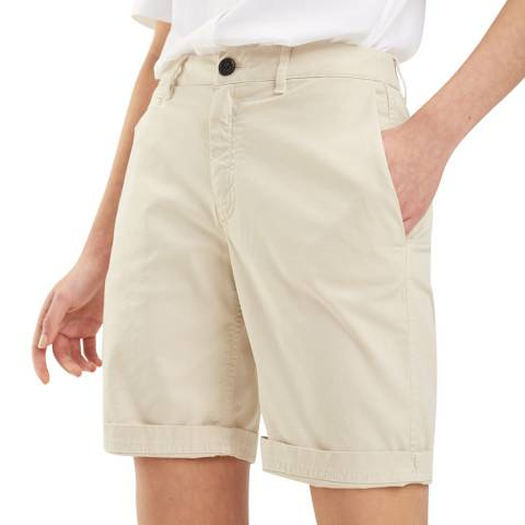 Tommy Hilfiger Beige Hunter Cotton Stretch Shorts