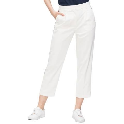 Tommy Hilfiger White Petra Tapered Stretch Trousers