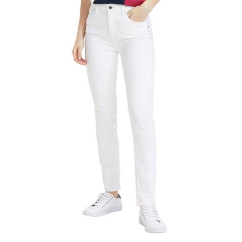 Tommy Hilfiger White Riverpoint Cigarette Stretch Jeans