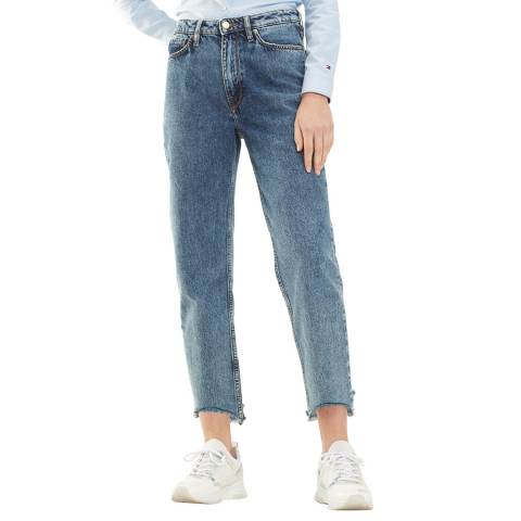 Tommy Hilfiger Blue Mela Classic Straight Cotton Jeans