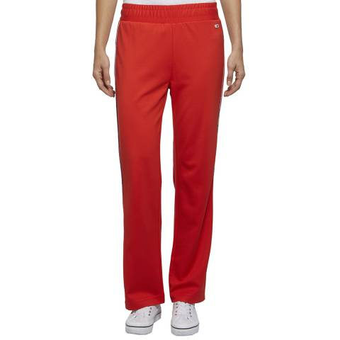 Tommy Hilfiger Bright Red Side Stripe Joggers