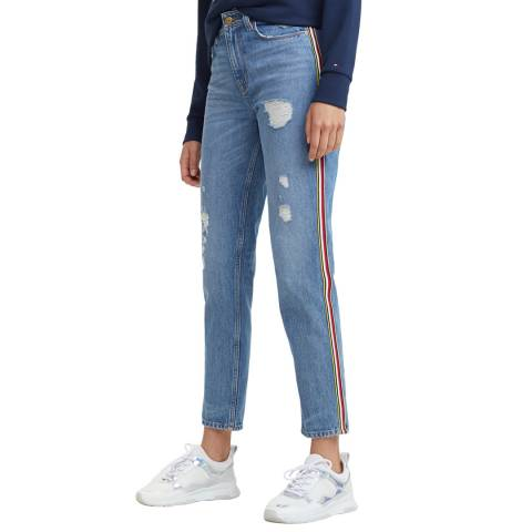 Tommy Hilfiger Blue Gramercy Tapered Stretch Jeans