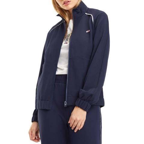 Tommy Hilfiger Navy Piping Tracksuit Jacket