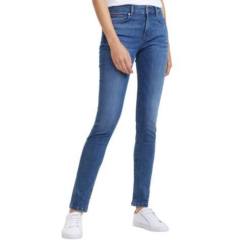 Tommy Hilfiger Mid Blue Como Skinny Stretch Jeans