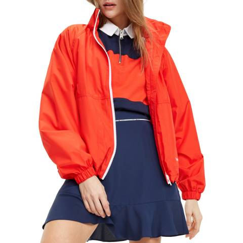 Tommy Hilfiger Bright Red Recycled Zip Jacket