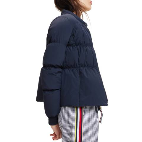 Tommy Hilfiger Navy Mirana Stretch Down Puffer Jacket